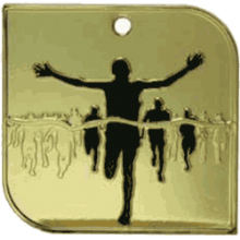 Square Running Medal